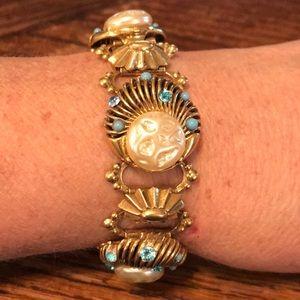 """VTG 7"""" repurposed ornate bracelet"""